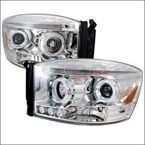 Spec D - Spec D LED Projector HeadLights (Chrome): Dodge Ram 2006 - 2008