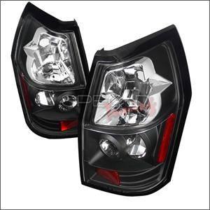 Spec D - Spec D Euro Tail Lights (Black): Dodge Magnum 2005 - 2008