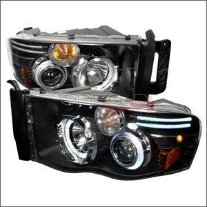 Spec D - Spec D CCFL Projector Headlights (Black):Dodge Ram 2002 - 2005