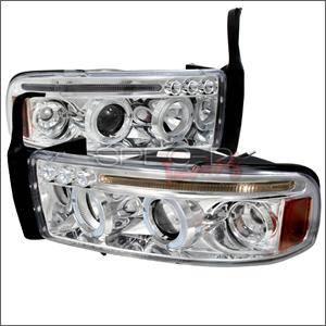 Spec D - Spec D LED Projector HeadLights (Chrome): Dodge Ram 1994 - 2001