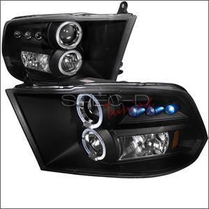 Spec D - Spec D LED Projector HeadLights (Black): Dodge Ram 2009 - 2016