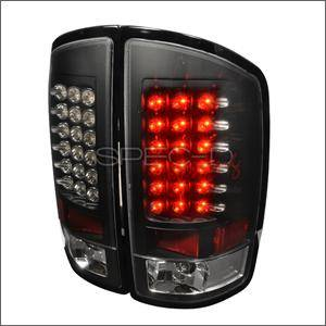 Spec D - Spec D LED Tail Lights (Black): Dodge Ram 2002 - 2006