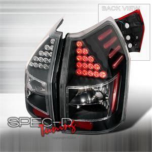 Spec D - Spec D LED Tail Lights (Black): Dodge Magnum 2005 - 2008