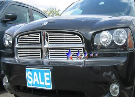 APS - APS Machined Billet Grille 4PC: Dodge Charger 2006 - 2010 (All Models)