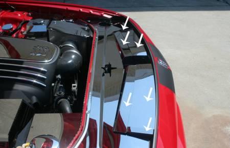 American Car Craft - American Car Craft Polished Header Plate Extension Kit: Dodge Challenger 2008 - 2014 (All Models)