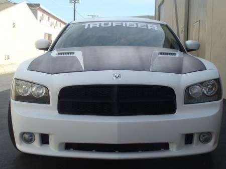 TruFiber - TruFiber A58 Fiberglass Hood: Dodge Charger 2006 - 2010