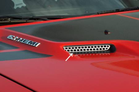 American Car Craft - American Car Craft Hood Scoop Overlay: Dodge Challenger 2008 - 2014 (All Models)