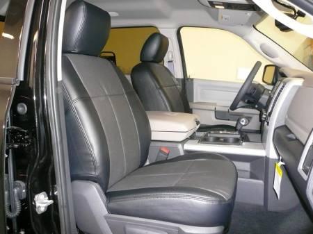 Clazzio - Clazzio Leather Seat Covers: Dodge Ram 2011 - 2012 (Crew & Quad Cab w/ Rear Bench Seat)
