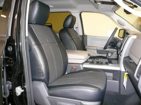 Clazzio - Clazzio Leather Seat Covers: Dodge Ram 2011 - 2012 (Crew Cab w/ Rear Split Seat)