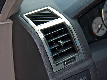 American Car Craft - American Car Craft A/C Vent Trim Outer 2Pc Polished/Brushed: 300C / Charger / Magnum 2005 - 2010