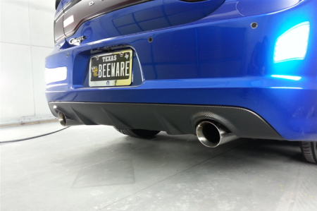 TruCarbon - TruCarbon LG164 Carbon Fiber Rear Diffuser: Dodge Charger SRT8 2011 - 2014