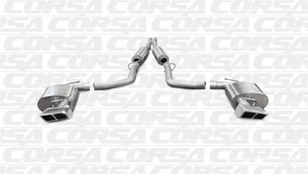 Corsa - Corsa Extreme Cat-Back Exhaust (Polished - Manual Transmission): Dodge Challenger SRT8 6.4L V8 2011 - 2014