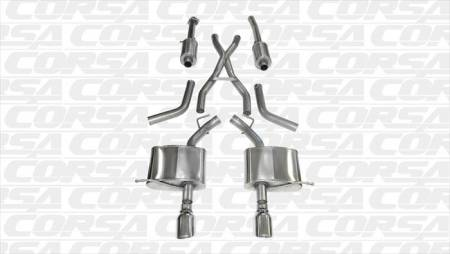 Corsa - Corsa Exhaust System (Polished): Dodge Durango 5.7L Hemi 2011 - 2021