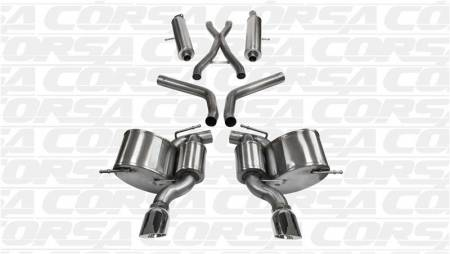 Corsa - Corsa Sport Cat-Back Exhaust (Polished): Jeep Grand Cherokee 6.4L SRT 2012 - 2021