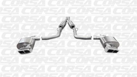 Corsa - Corsa Extreme Cat-Back Exhaust (Polished - Manual Transmission): Dodge Challenger 5.7L V8 2011 - 2014