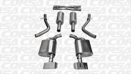 Corsa - Corsa Xtreme Exhaust System (Polished): Dodge Challenger 5.7L Hemi 2015 - 2020