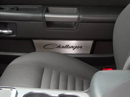 American Car Craft - American Car Craft Brushed Door Badge Plate (Challenger): Dodge Challenger 2008 - 2021