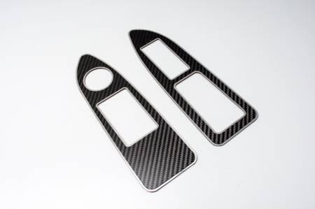 American Car Craft - American Car Craft Carbon Fiber Arm Control Trim Plate: Dodge Challenger R/T SRT8 2008 - 2014