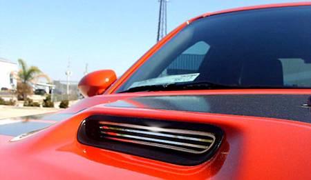American Car Craft - American Car Craft Polished Billet Hood Scoop Grilles: Dodge Challenger 2008 - 2014