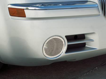 American Car Craft - American Car Craft Fog Light Grille Polished Billet Style: Chrysler 300C 2005 - 2010