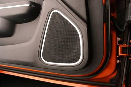 American Car Craft - American Car Craft Front Door Speaker Trim (Polished): Dodge Charger R/T 2011 - 2014