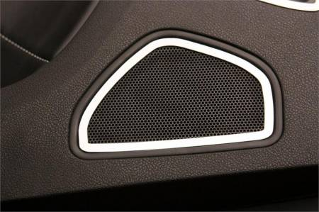 American Car Craft - American Car Craft Rear Door Speaker Trim (Polished): Dodge Charger R/T 2011 - 2014