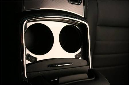 American Car Craft - American Car Craft Cup Holder Trim Plate (Polished): Dodge Charger R/T 2011 - 2014