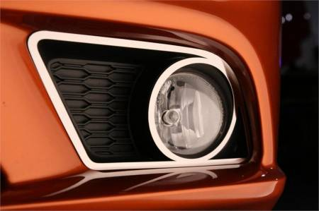 American Car Craft - American Car Craft Fog Light Trim Rings (Polished): Dodge Charger R/T 2011 - 2014