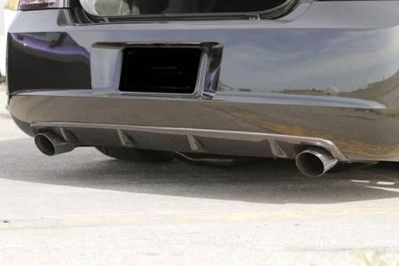 TruCarbon - TruCarbon LG49 Carbon Fiber Rear Diffuser: Dodge Charger 2006 - 2010