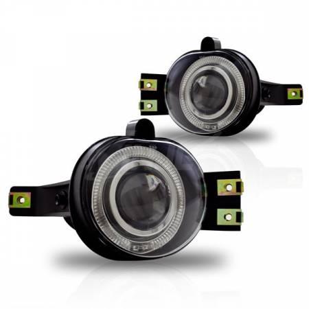 Winjet - Winjet Halo Projector Fog Lights: Dodge Ram 2002 - 2008