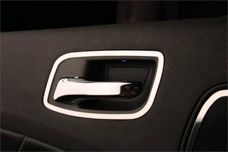 American Car Craft - American Car Craft Rear Door Handle Trim (Polished): Dodge Charger R/T 2011 - 2014