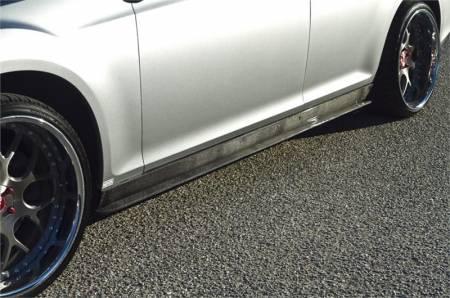 TruCarbon - TruCarbon LG129 Carbon Fiber Side Skirt Splitters: Chrysler 300 2011 - 2020