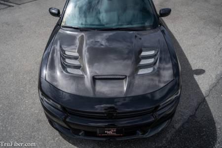 TruCarbon - TruCarbon A80 Carbon Fiber Hood: Dodge Charger 2015 - 2020
