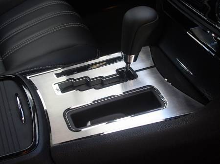 American Car Craft - American Car Craft Brushed Shifter Plate with Polished Trim Ring:  Chrysler 300C 5.7L 2011-2013