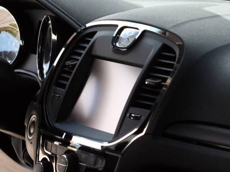 American Car Craft - American Car Craft Polished Navigation Center A/C Vent Trim Ring 2Pc:  Chrysler 300 2011 - 2014