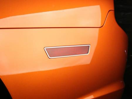 American Car Craft - American Car Craft Polished Side Marker Light Trim Rings 2pc: Dodge Charger R/T 2011-2014