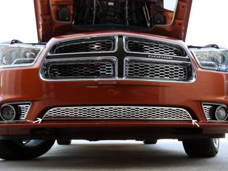 American Car Craft - American Car Craft Lower Polished Grille Overlay: Dodge Charger R/T 2011 - 2014