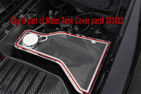 American Car Craft - American Car Craft Carbon Fiber Water Tank Top Cover Plate: Chrysler 300 / Dodge Charger 2011 - 2020