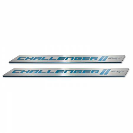 "American Brother Designs - American Brother Designs ""SRT"" Door Sills: Dodge Challenger 2008 - 2020"