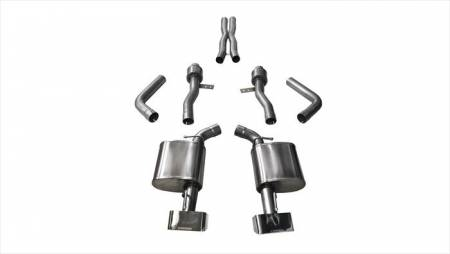 Corsa - Corsa Sport Cat-Back Exhaust (Polished): Dodge Challenger 6.4L ScatPack, SRT & 6.2L Hellcat 2015 - 2021