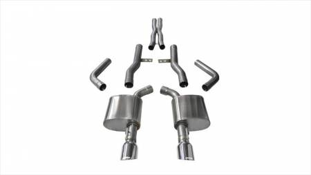 Corsa - Corsa Extreme Cat-Back Exhaust (Polished): Dodge Charger ScatPack, SRT & Hellcat 2015 - 2021