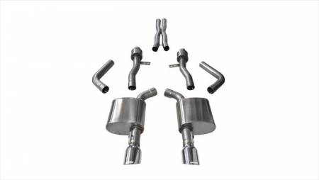 Corsa - Corsa Sport Cat-Back Exhaust (Polished): Dodge Charger ScatPack, SRT & Hellcat 2015 - 2021