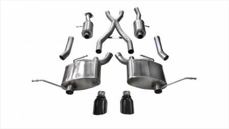Corsa - Corsa Sport Cat-Back Exhaust (Black): Jeep Grand Cherokee 5.7L V8 2011 - 2018