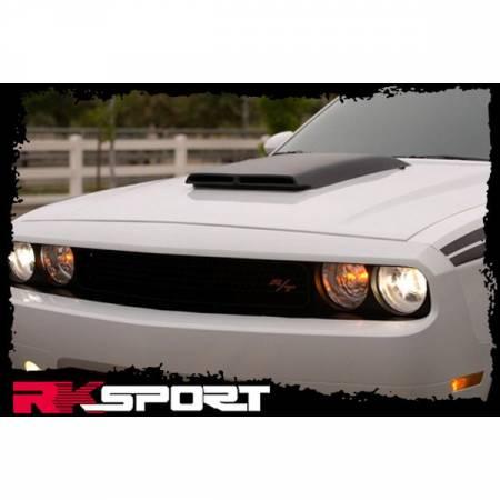 RK Sport - RK Sport Carbon Fiber Blister Ram Air Hood: Dodge Challenger 2008 - 2019