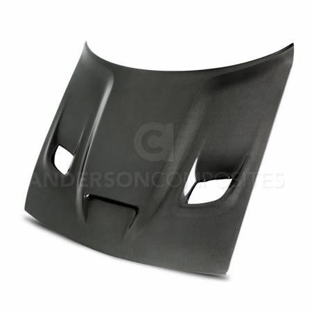 Anderson Composites - Anderson Composites Hellcat Carbon Fiber Hood: Dodge Challenger SRT Hellcat 2015 - 2020