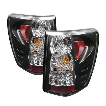 Spyder - Spyder Black LED Tail Lights: Jeep Grand Cherokee 2005 - 2006