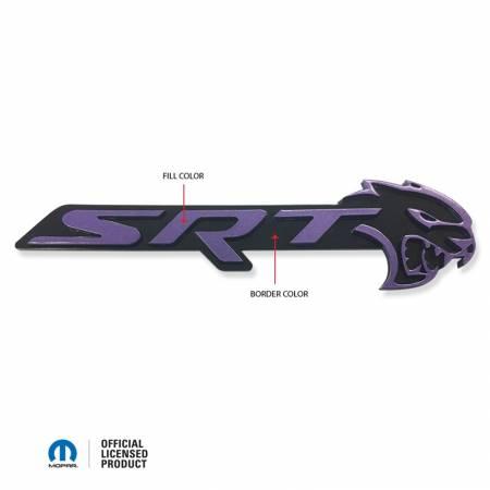 American Brother Designs - American Brother Designs SRT Hellcat Front Grille Badge (2-Color): Dodge Challenger 2015 - 2020