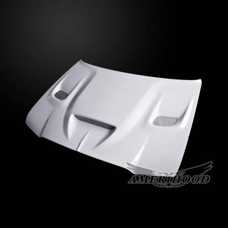 Amerihood - Amerihood Hellcat Functional Ram Air Hood: Chrysler 300 2005 - 2010