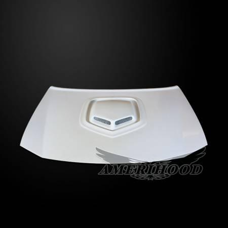 Amerihood - Amerihood Shaker Style Functional Ram Air Hood: Dodge Charger 2006 - 2010