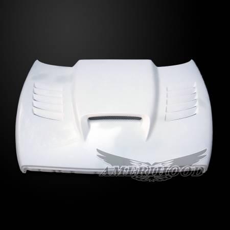 Amerihood - Amerihood SSK Functional Ram Air Hood: Dodge Ram 1500 1994 - 2001